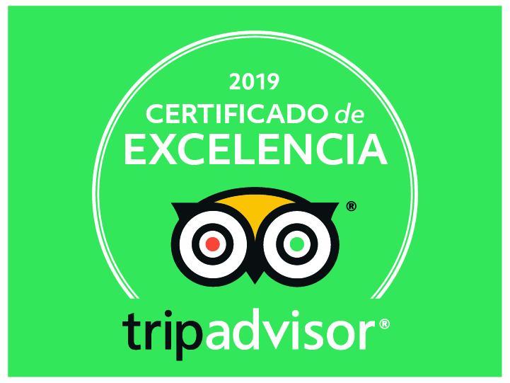 Certificado de excelencia Tripadvisor 2019